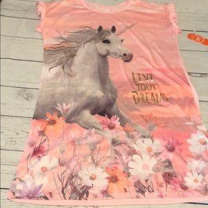Wonder Nation unicorn girls nightgown